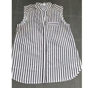 H&M Sleeveless Button Down Shirt